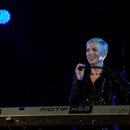 Annie Lennox performs at the mothers2mothers charity event.(Photo by Vianney Le Caer/REX)